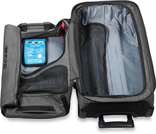Dakine 10000784  - Unisex Split Roller Luggage Bag - Durable Construction - Split-Wing Collapsible Brace Level - Exterior Quick Access Pockets (Carbon, 85L) by Dakine (Image #9)