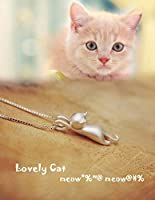ANEWISH High Quality Cute Cat S925 Sterling Silver Womens Pendant Necklace for Women Girl
