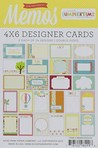 (Echo Park Paper Getaway Memo Cards, 4