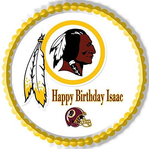 Washington Redskins Edible Birthday Cake Topper OR Cupcake Topper, Decor - 6