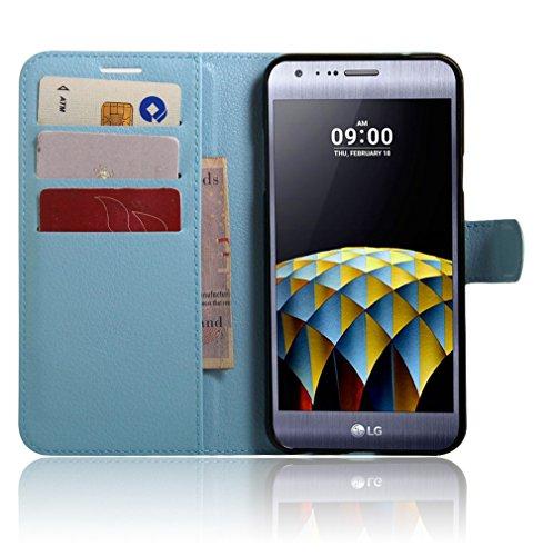 Funda LG X CAM/LG K58Y,Manyip Caja del teléfono del cuero,Protector de Pantalla de Slim Case Estilo Billetera con Ranuras para Tarjetas, Soporte Plegable, Cierre Magnético E