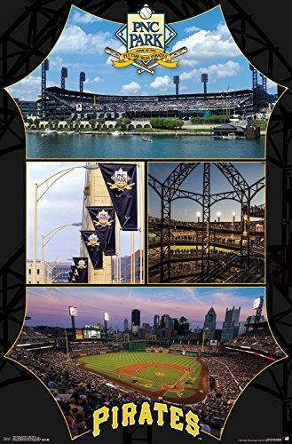 "MLB Pittsburgh Pirates, PNC Park, 22"" x 34"", Wall Poster"