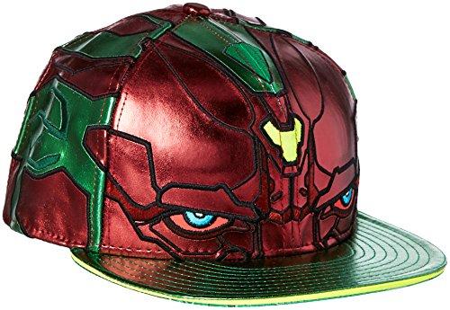 - New Era Cap Men's Vision Character Armor 59Fifty Cap, Green/Red, 7 1/4