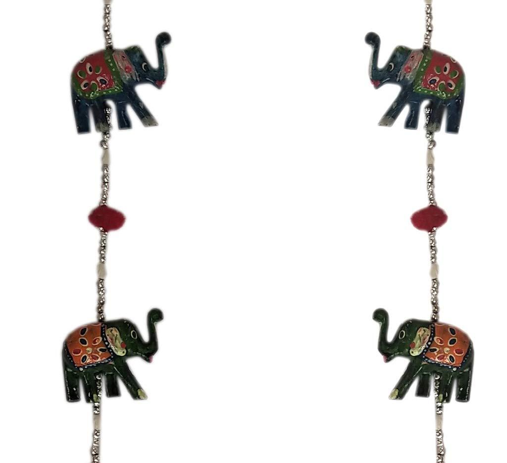 Wall Hanging for Home Decoration Set of 2 Laxman Art Rajasthani Handicraft Elephant Door