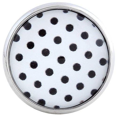Morella click-button bouton pression pour bijou femme style rétro années 50 noir à pois blanc