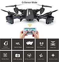 Foldable RC Drone with Camera, 8807W Wifi FPV 2.4G Altitude Hold Headless Quadcopter with 720P 2MP Wide Angle Camera by Fancywing by Fancywing