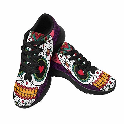 InterestPrint Womens Jogging Running Sneaker Lightweight Go Easy Walking Casual Comfort Running Shoes Mexican Sugar Skull Girl Multi 1 3Feyn