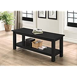 "WE Furniture 50"" Country Style Entry Bench - Black"