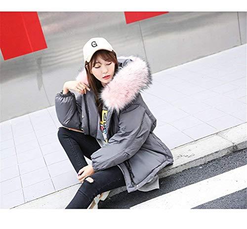 Capucha Piel Hipster De Grau Invierno Estampadas Modernas Chaqueta Con Camuflaje Larga Cuello Manga Corto Cruzadas Casual Mujer Elástica Moda Abrigos Correas Outerwear xwp4SEqgg