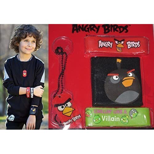 Nice Boys Special Edition ANGRY BIRDS Necklace, 2 Rubber Bracelets, and Wristband! Great gift for EASTER BASKETS for Kids! Orders by 4/13 WILL ARRIVE BEFORE EASTER with Expedited Shipping! free shipping