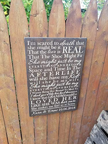 Burkewrusk Personalized Printed Wooden Sign Im Scared to Death That She Might Be It Leon Bridges Beyond Lyrics