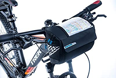 Bicycle Handlebar Bag, GranVela Waterproof Mountain Road Bike Cycling 3L Front Frame Tube Handlebar Bag with Transparent PVC Pouch