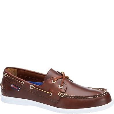 Les Litesides Deux Chaussures Waxl Front De L'oeil Huilé Taille 44,5 E (w) Marron Hommes Hommes Sebago