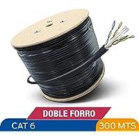 Cable De Red Utp Bobina De 300m. Blindando Cat6e Prueba Agua Doble Forro