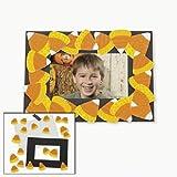 Lot of 12 Candy Corn Photo Frame Magnet Halloween Fall School Craft Kit