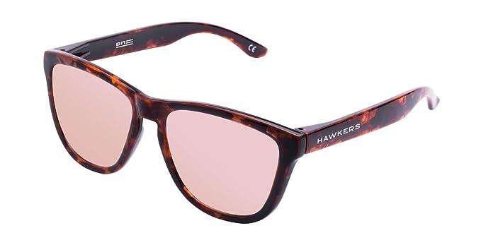 2eeb437f78c25 HAWKERS · ONE · Carey · Rose gold · Men and women sunglasses  Amazon ...