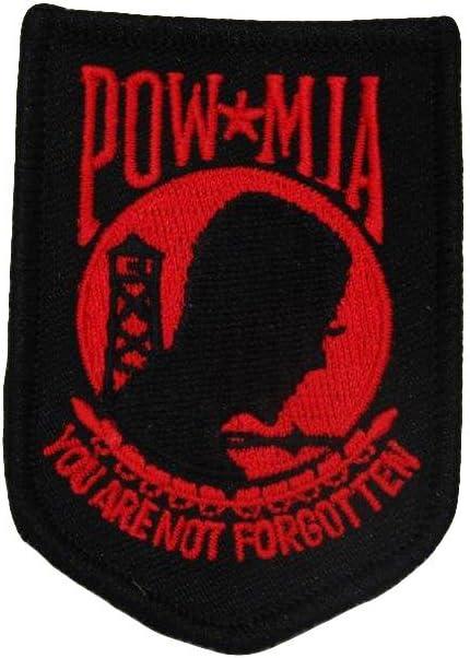 POW MIA POWMIA Prisoner of War Black /& White Wholesale lot of 3 Iron On Patch