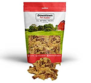 Pig Ear Strips for Dogs, 100% Natural Pigs Ears Treats - 1 LB
