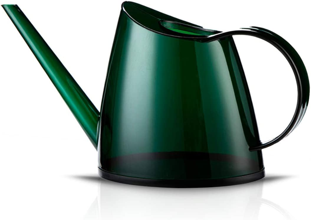 WhaleLife Indoor Watering Can for House Bonsai Plants Garden Flower Long Spout 40oz 1.4L 1/3 Gallon Small Modern Green