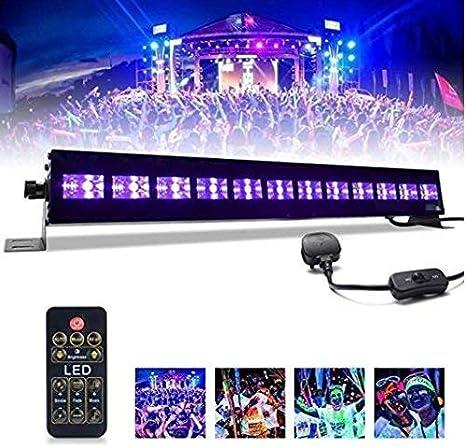 UV luz Bar mictuning 36 W 12 LEDs UV Proyector de mando a ...