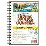 Pro-Art Strathmore Visual Journal Spiral Bound Art Pad, 9 by 12-Inch, Bristol Vellum