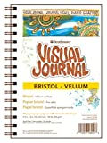 Strathmore 300 Series Visual Bristol Journal, 9''x12'' Vellum, Wire Bound, 24 Sheets