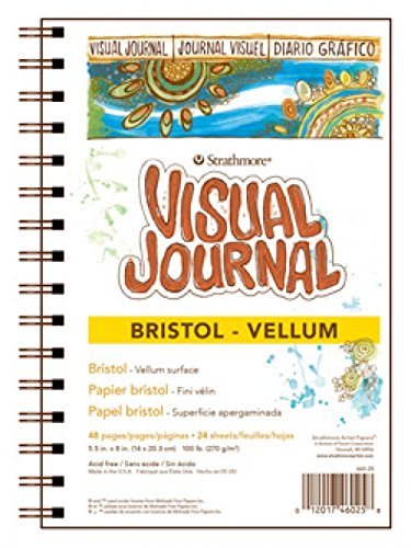 Strathmore Visual Journal Spiral Bound 5.5'X8'-Bristol Vellum Notions - In Network 460-25