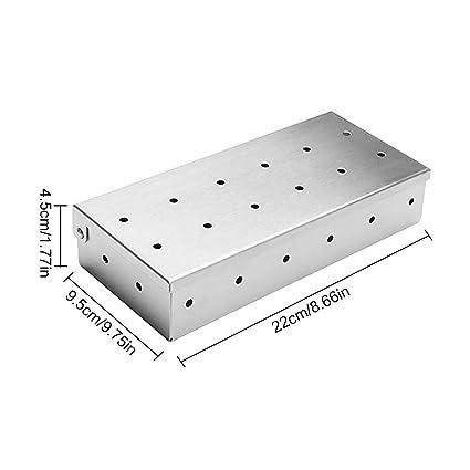 La caja superior para ahumadores de carne en los asadores ...