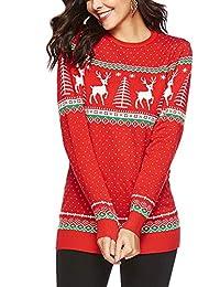 Avernon Unisex 2018 Long Sleeve Crewneck Christmas Sweater Jumper Top Pullover