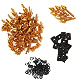 XKMT GROUP Motorcycle Gold Universal Spike Fairing Bolt kit Screws Sportbike Pack For Yamaha YZF R1 R6 R6S