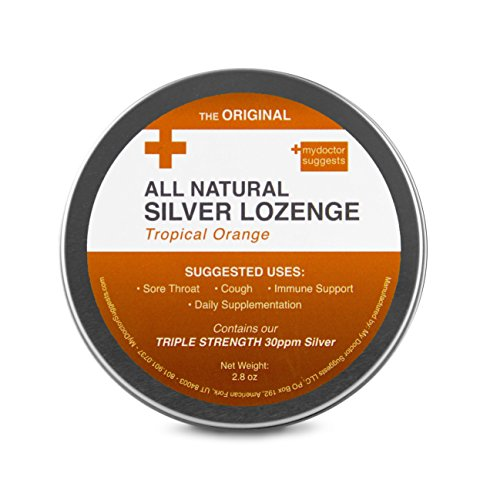 (Silver Lozenges - All Natural Cough Drops - Tropical)