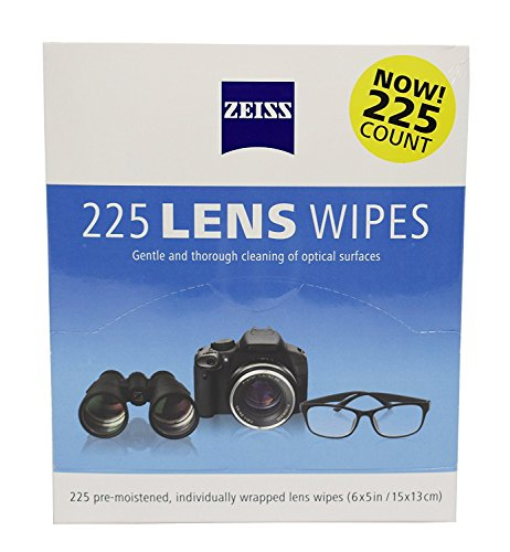 Zeiss Pre-Moistened Lens Cleaning Wipes, 225 ct, Convenient Dispenser Pack