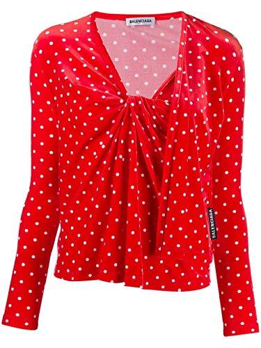 Balenciaga Luxury Fashion Womens 583801TFL636540 Red T-Shirt   Fall Winter 19