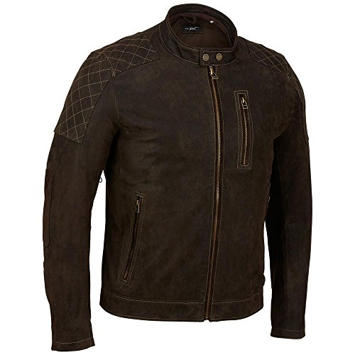 Black-Rivet-Mens-Hooded-Leather-Cycle-Jacket-WDiamond-topstitching