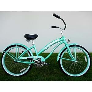 "Kids Bikes ""Mint Green"" Ladies Beach Cruiser 24"" Deluxe"