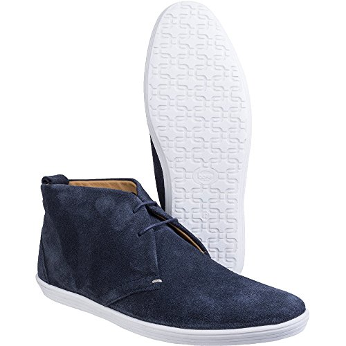 Base London Mens Roadie Suede Leather Casual Lace Up Chukka Boots Navy
