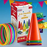 Prextex 3 in 1 Carnival Outdoor Games Combo Set