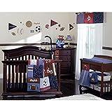 11 pieces Play Ball Crib Bedding Mobile & Bumper Bundle Set By NoJo
