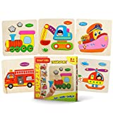 Smart Kids - Wooden Puzzles for Toddlers - 5 pack - Baby puzzles