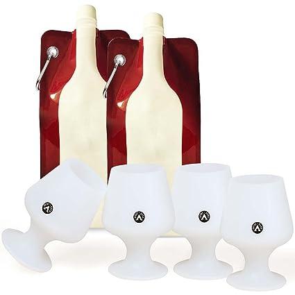 Avery Granero Silicona Proveniente De Copas De Vino + Plegable Botella De Plástico Sistemas De Bolsa