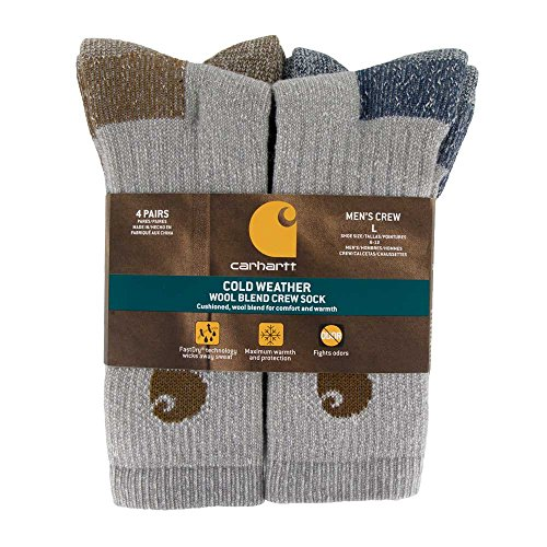 Carhartt-Mens-A695-4-Cold-Weather-Crew-Sock-4-Pack