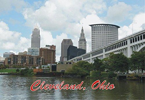 Cleveland, Ohio, City Skyline, OH, Souvenir Magnet 2 x 3 Photo Fridge - Cleveland Stores Airport