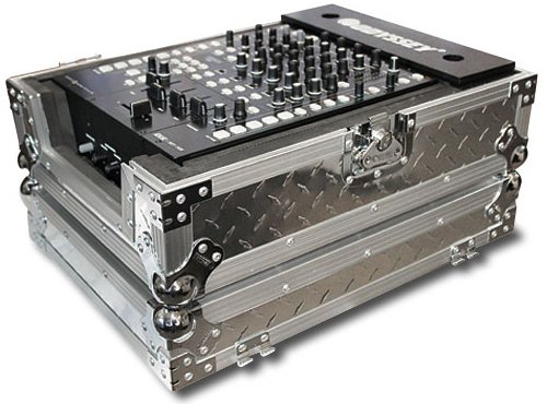 Odyssey FZ12MIXDIA Slvr Dia Plate 12In Mixer Case Single DJ Mixer Case