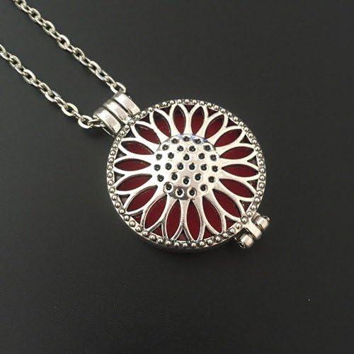 Aromath/érapie Collier Aroma Fleurs Bijoux Pendentif et collier at084/couleur antique bronze