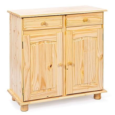 13Casa Credenza a due ante Pamina, in legno massello, color legno ...