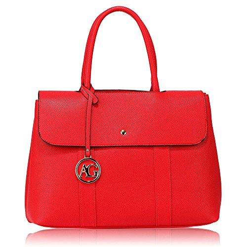 Satchel Grab UK Handbag Stunning Grab FREE Red Red DELIVERY Satchel Stunning Shoulder 1SCwqC