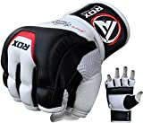 RDX MMA Gloves Sparring Martial Arts Grappling Cowhide Leather Training Cage Fighting Combat Punching Bag Gel Mitts