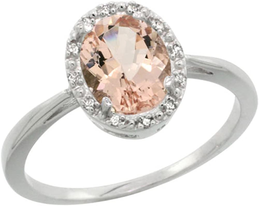 Authentic Ring Handcrafted Ring Morganite 925K Sterling Silver By Artsmyrna Natural Morganite  Ring Solid Silver Birthstone Ring