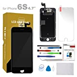 For iPhone 6s Screen Replacement 4.7'' Black LCD Display with 3D Touch Screen Digitizer Frame Full Assembly + Free Screen Protector + Repair Tools Kit (Black)