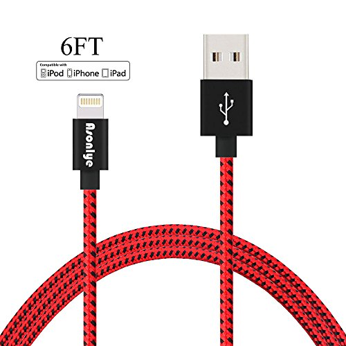Asonlye Charger Cable, Charging Cord 6FT Nylon Braided 8 Pin Lightning to USB Cables for Apple iPhone 7 7 Plus 6s 6s Plus 6 6 plus 5s 5c 5 iPad - Premium Outlets Opening Times